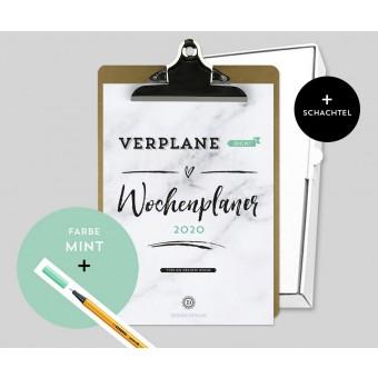 Design Verlag – Wochenplaner 2020 mit Klemmbrett | Farbe: Mint