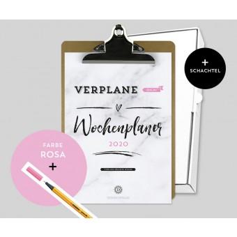 Design Verlag – Wochenplaner 2020 mit Klemmbrett | Farbe: Rosa
