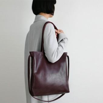 alexbender Multifunktionale Tasche echt Leder Bordeaux