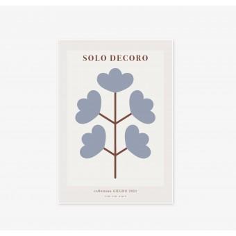 FINE FINE STUFF - Poster - Solo Decoro - Blue Flower