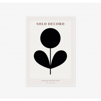 FINE FINE STUFF - Poster - Solo Decoro - black 02 - 30x40