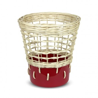 "Papierkorb ""Bow Bin No.2 Ruby Red"""