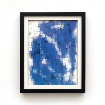 Konrad Bande Druck - Blau