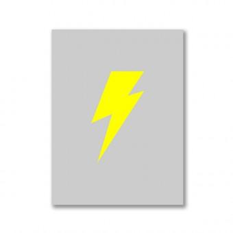 "ZEITLOOPS ""Blitz, grau/gelb, Fineartprint 45x60 cm"