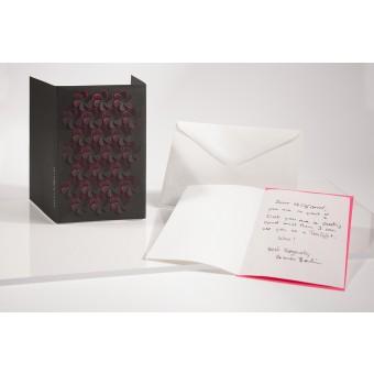 formes Berlin Blüten Set, schwarz, 2 Karten - Reliefkarte mit gelasertem Motiv, Einlegern und  Umschlag