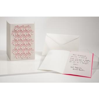 formes Berlin Blüten Set, weiß, 2 Karten - Reliefkarte mit gelasertem Motiv, Einlegern und  Umschlag