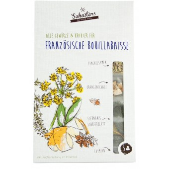 Alle Kräuter und Gewürze für Französische Bouillabaisse