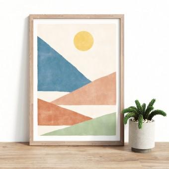 Paperlandscape | Kunstdruck | Berge Bunt | verschiedene Größen