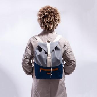 MULINU Rucksack CLASSIC BERTA Blau-Grau