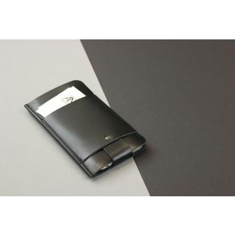 Alexej Nagel Slim Fit Hülle für iPhone 6 / 6S aus Premium Leder - Schwarz [BL]