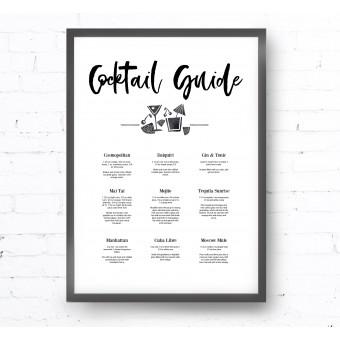 Kruth Design POSTER / COCKTAIL GUIDE