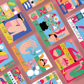Anne Albert – This YEAR –Postkarten-Set (12 x A6)