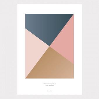 Origami Print Sunglasses, Blau/Rosa, von Christina Pauls