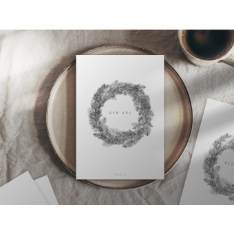 typealive / Weihnachtskarten 4er Set / Christmas Wreath