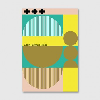 "ZEITLOOPS ""Circle, Stripe & Cross"", Posterprint 40x60 cm"