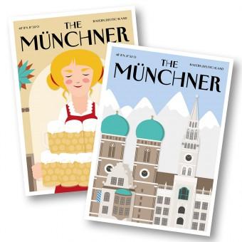Martina Olonschek | Postkarten The Münchner Wirtin und Skyline | 2er-Set