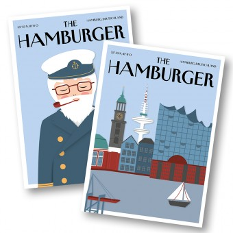 Rapü Design | Postkarten The Hamburger Seemann und Skyline | 2er-Set