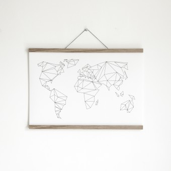 Artprint inkl. magnetischer Posterleiste A2, Click - On - Frame, Rahmen