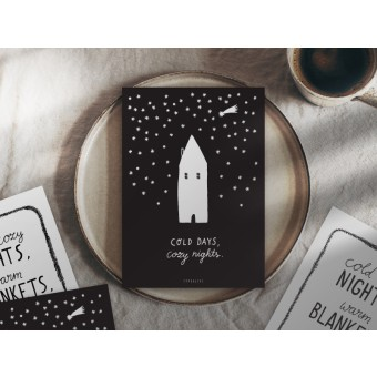 typealive / Weihnachtskarten 4er Set / Cozy Nights