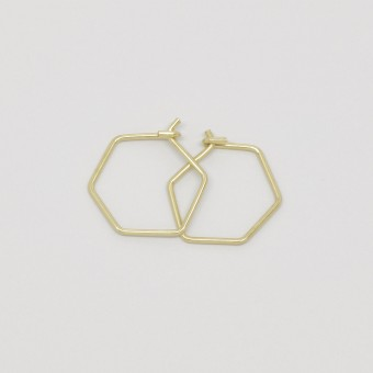 fejn jewelry - Creole 'hexagon'
