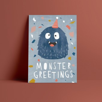 Designfräulein // Postkarte // Monster Greetings