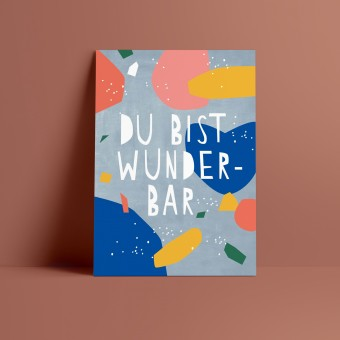 Designfräulein // Postkarte // Du bist wunderbar
