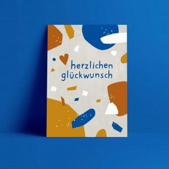 Designfräulein // Postkarte // herzlichen glückwunsch