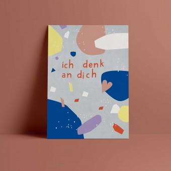 Designfräulein // Postkarte // ich denk an dich