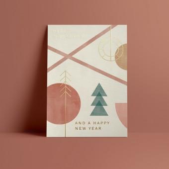 Designfräulein // Weihnachtskarte // Merry Christmas and a happy new Year // gold