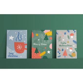 Designfräulein // Postkartenset // Cosy Christmas