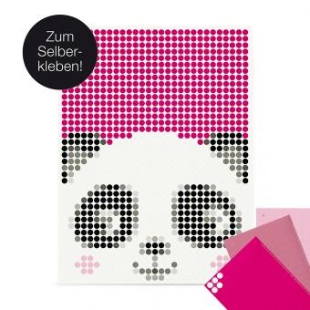 dot on art / panda – DIY-Kunstwerk zum Selberkleben / 30x40 cm