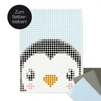 dot on art / penguin – DIY-Kunstwerk zum Selberkleben / 30x40 cm