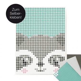 dot on art / racoon – DIY-Kunstwerk zum Selberkleben / 40x40 cm