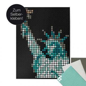 dot on art / liberty – DIY-Kunstwerk zum Selberkleben / 30x40 cm