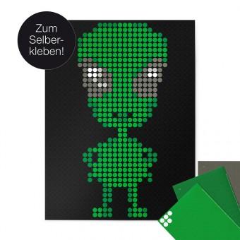 dot on art / alien – DIY-Kunstwerk zum Selberkleben / 30x40 cm