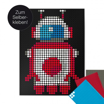 dot on art / robot – DIY-Kunstwerk zum Selberkleben / 30x40 cm