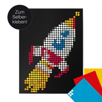 dot on art / rocket – DIY-Kunstwerk zum Selberkleben / 30x40 cm