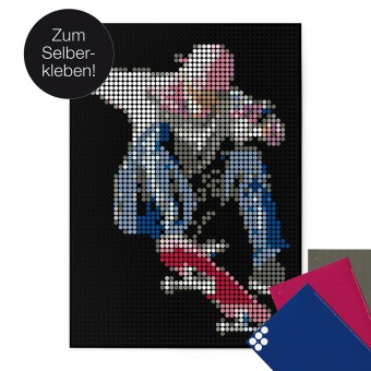 dot on art / skate – DIY-Kunstwerk zum Selberkleben / 50x70 cm