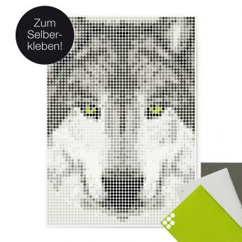dot on art / wolf – DIY-Kunstwerk zum Selberkleben / 50x70 cm