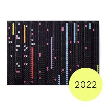 dot on classic / Jahresplaner 2022 – mit Klebepunkten in 12 Farben