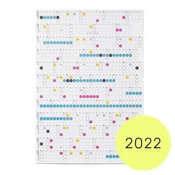 dot on high / Jahresplaner 2022 – mit Klebepunkten in 12 Farben