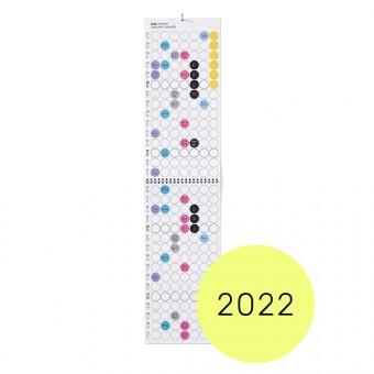 dot on maxi / Monatsplaner 2022 – mit Klebepunkten in 12 Farben