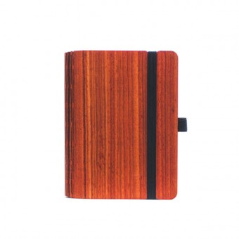 JUNGHOLZ Design Notizbuch, WoodBook, Padouk, A6
