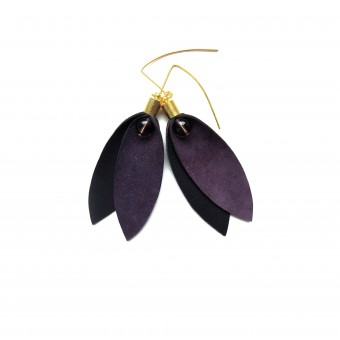 vanBALO WINGS Ohrhänger – Doppelblätter violett