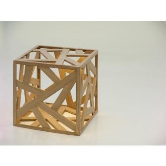 kubus mini – LED-Holzleuchte – Leuchtmanufaktur