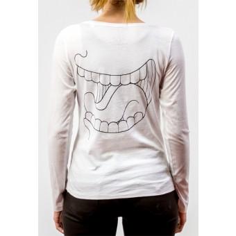 SCHTIEFBRUDER Frauen Longsleeve/Langarm-Shirt Rückengelächter