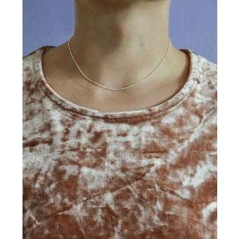 stahlpink – Kettchen aus nachhaltigem recyceltem Silber, 38cm
