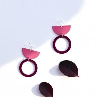 stahlpink – Nachhaltige Ohrringe: LU lila