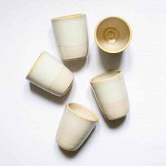 Becher Sand von NOTON Keramik