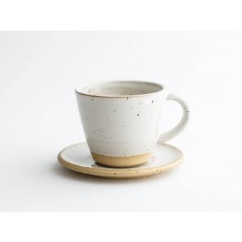 NOTON Keramik // Tasse mit Untertasse